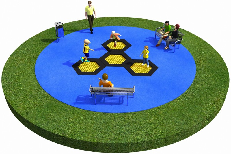 Playground Equipment for sale Trampolines  Layout 8 Professional manufacturer