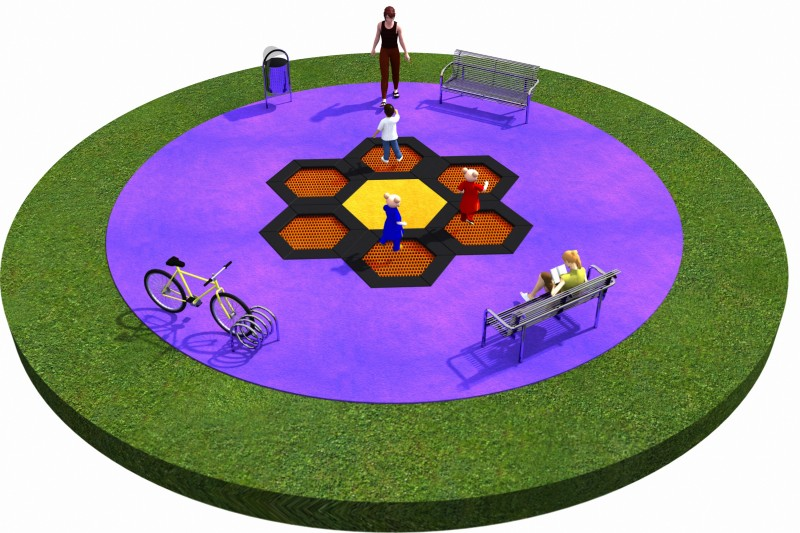 Playground Equipment for sale Trampolines  Layout 1 Professional manufacturer