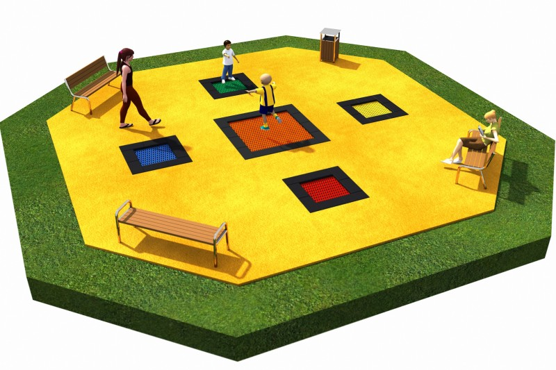 Playground Equipment for sale Trampolines  Layout 5 Professional manufacturer
