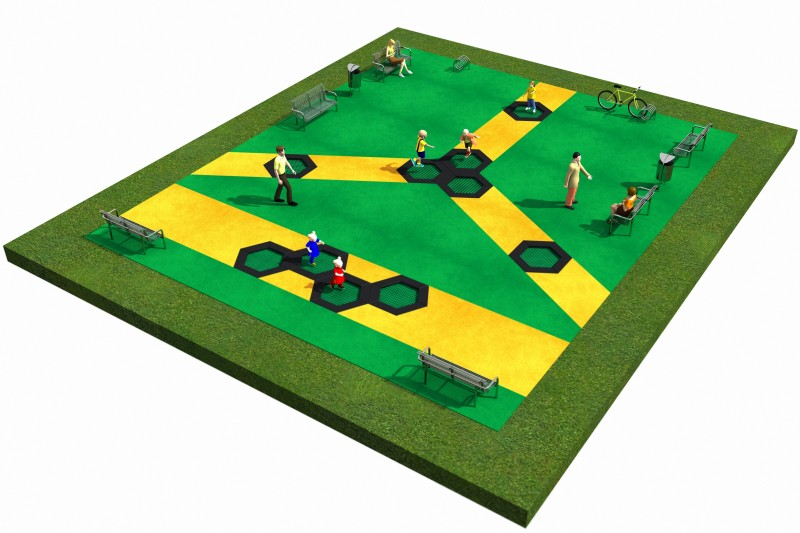 Playground Equipment for sale Trampolines  Layout 2 Professional manufacturer