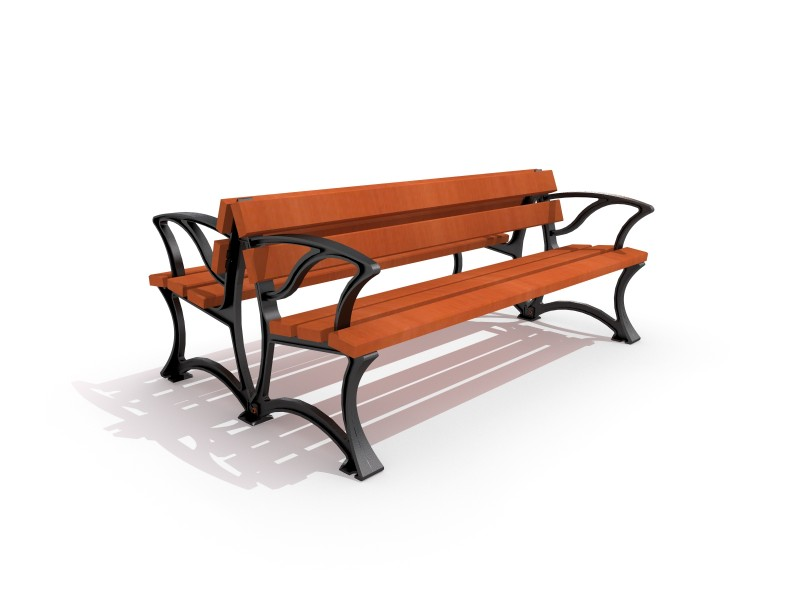 Playground Equipment for sale Cast-iron bench 01 Professional manufacturer