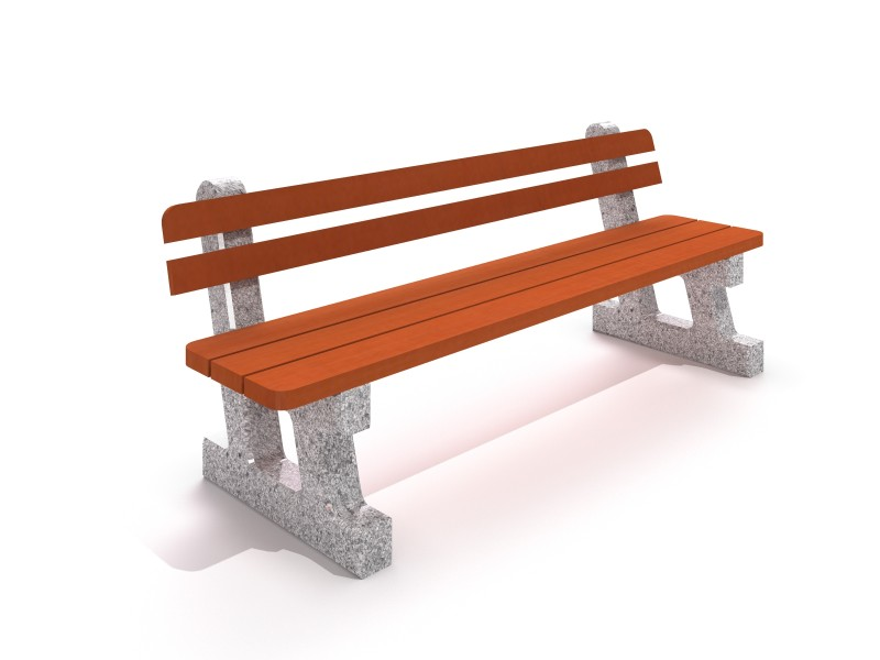 Playground Equipment for sale Concrete planter set with bench 01 Professional manufacturer