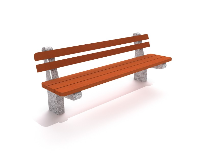 Playground Equipment for sale Concrete planter set with bench 02 Professional manufacturer