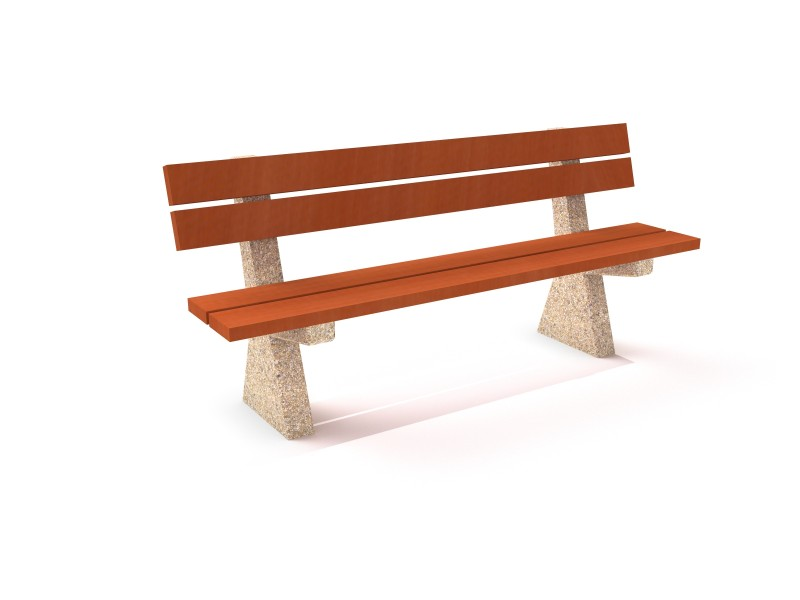 Playground Equipment for sale Concrete bench 08 Professional manufacturer