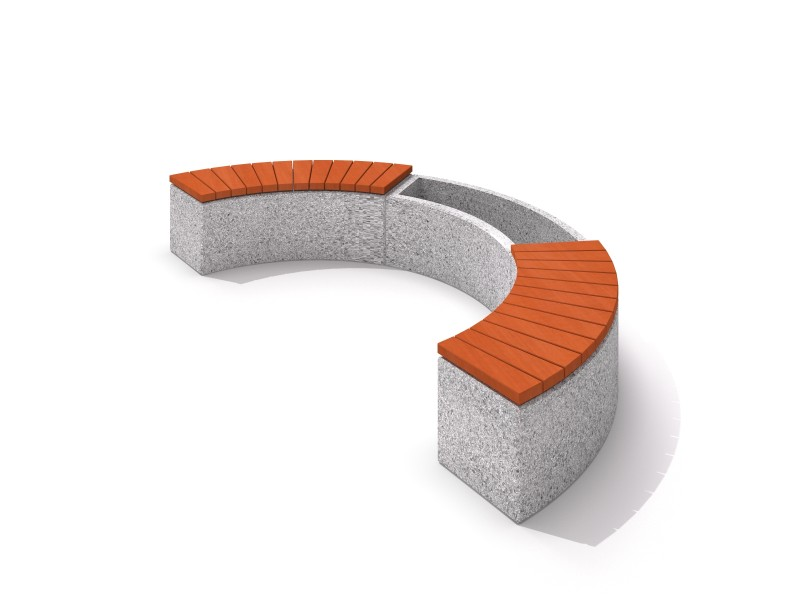 Inter-Play - Concrete planter set with bench 01