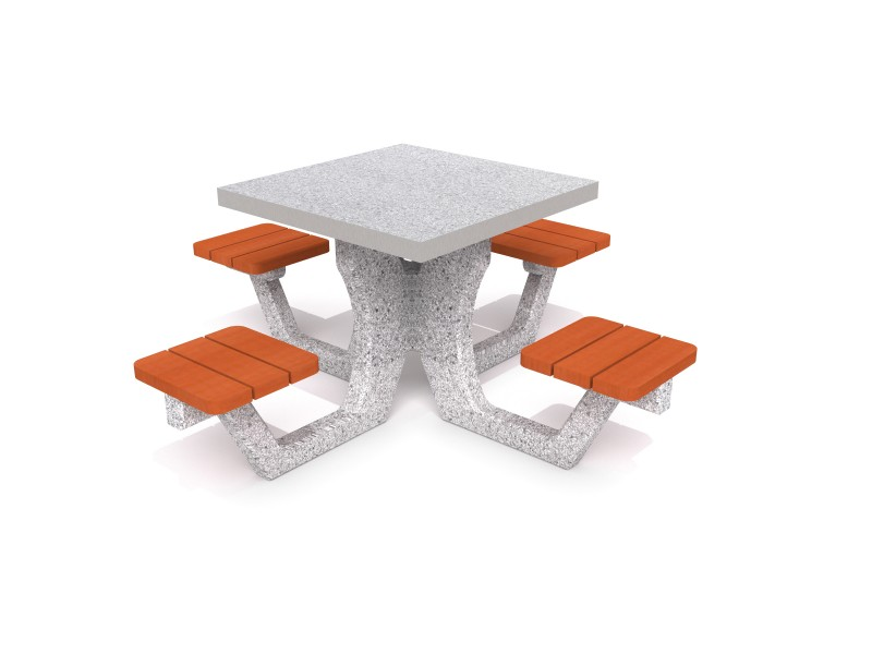 Playground Equipment for sale Concrete table for ludo game 03 Professional manufacturer