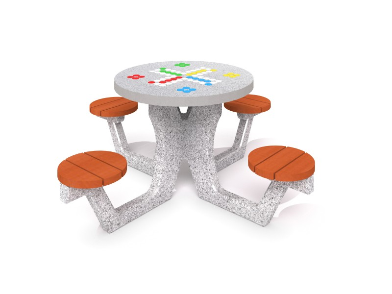 Playground Equipment for sale Concrete table for chess - checkers / ludo game 02 Professional manufacturer