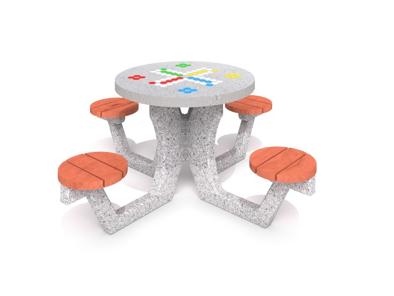 Inter-Play - Concrete table for ludo game 03