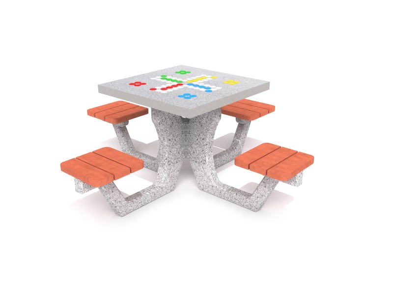 Inter-Play - Concrete table for ludo game 01