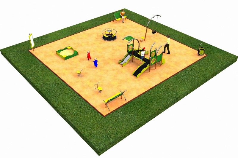 Inter Play Playground LIMAKO for toddlers layout 2