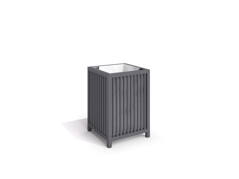 steel trash bin 10 Inter Play Playground