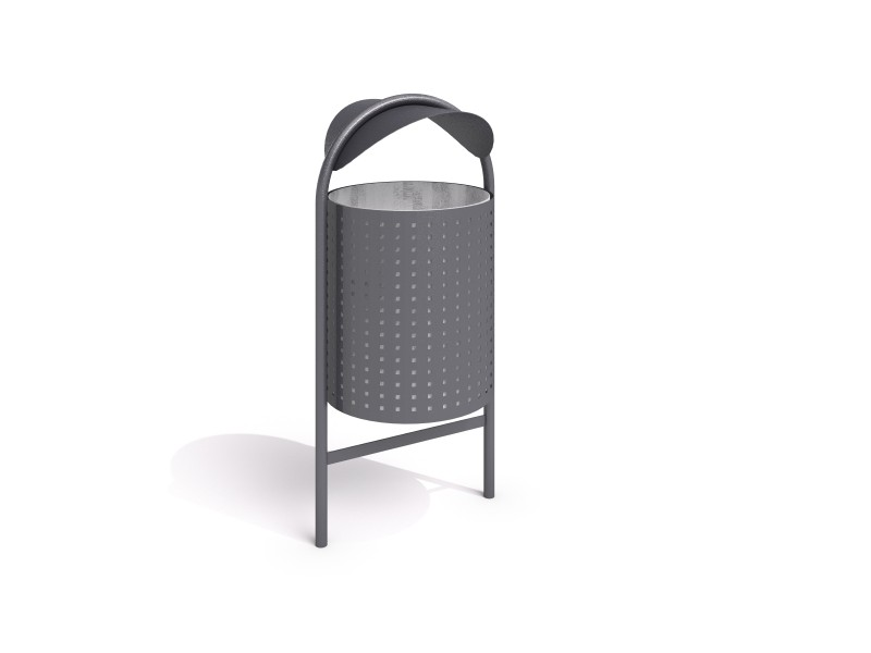 steel trash bin 12 Inter Play Playground