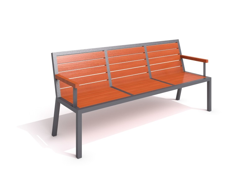 Inter-Play - steel bench 19