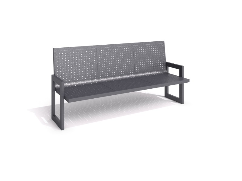 steel bench 21 Inter Play Playground