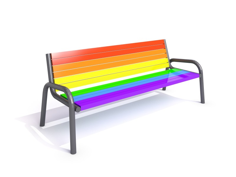 Inter-Play - steel bench 23