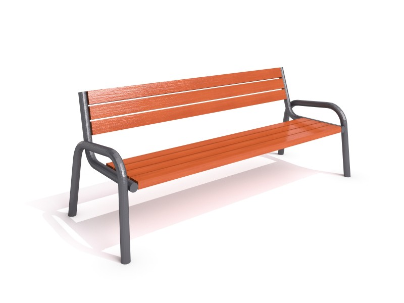 Inter-Play - steel bench 25