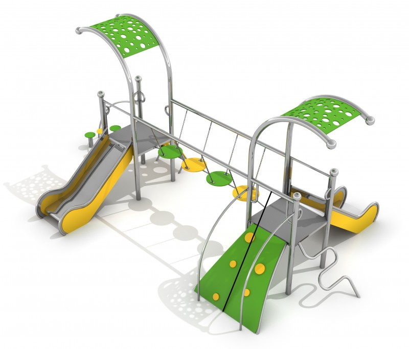 Playground Equipment for sale Zestaw Dometo 2-2 Professional manufacturer