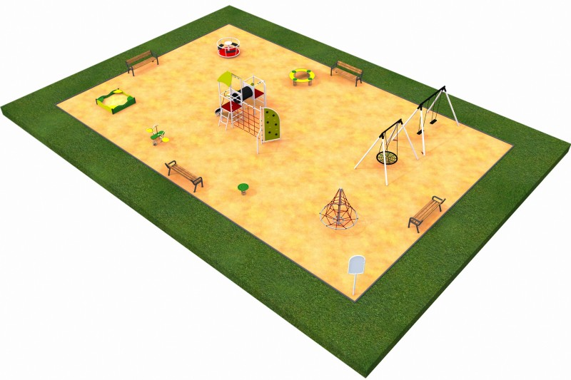 Playground Equipment for sale MIX layout 1 Professional manufacturer