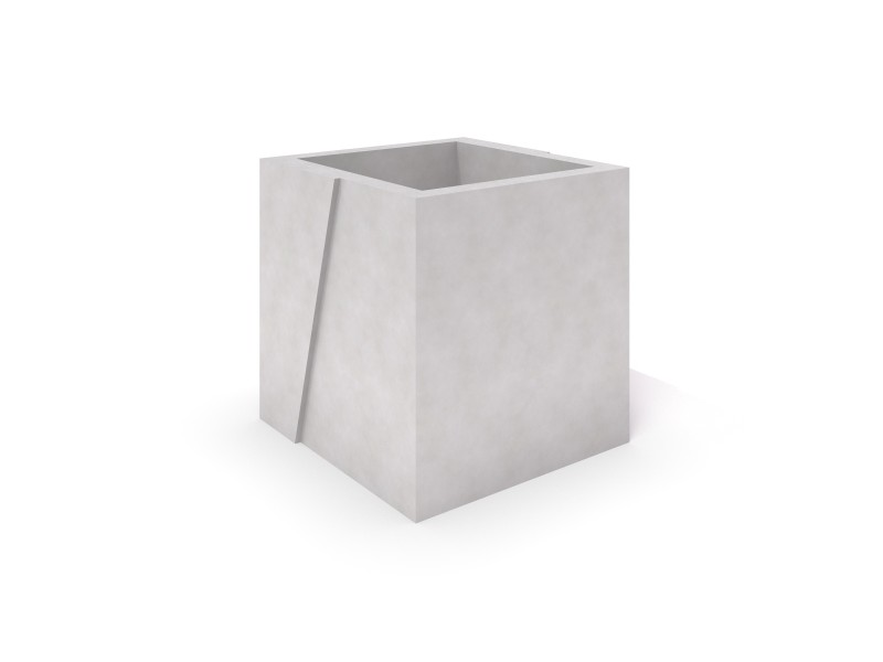 Inter-Play - DECO white concrete planter 01