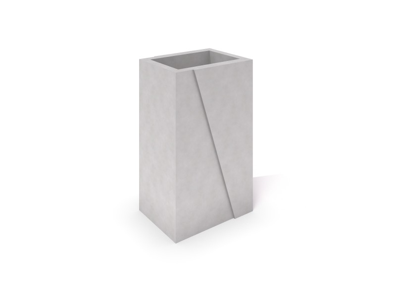 Inter-Play - DECO white concrete planter 02