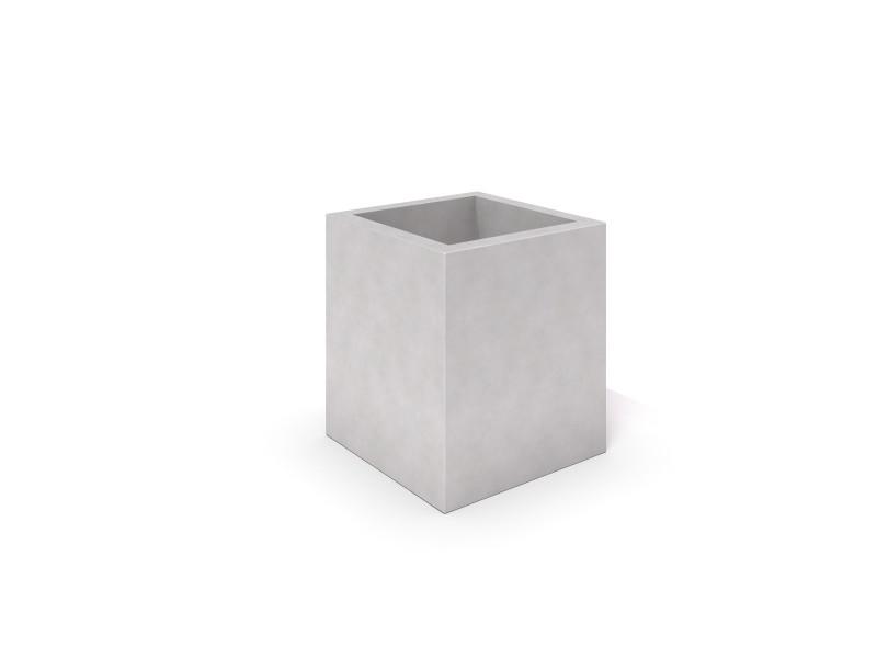 Inter-Play - DECO white concrete planter 03