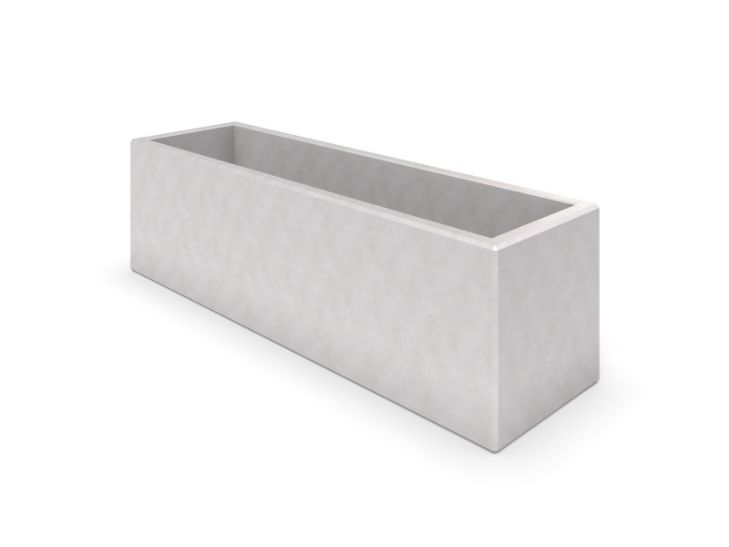 Playground Equipment for sale DECO white concrete planter 05 Professional manufacturer