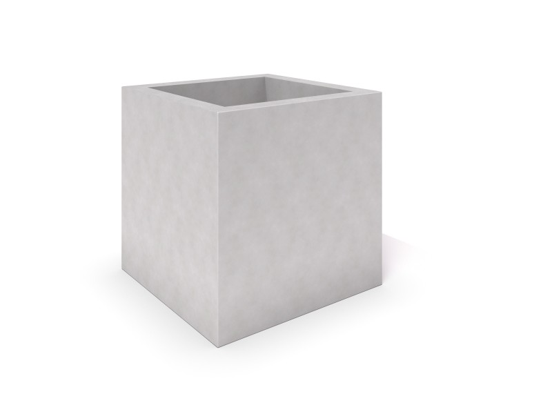 Inter-Play - DECO white concrete planter 05