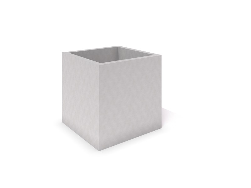 Inter-Play - DECO white concrete planter 06