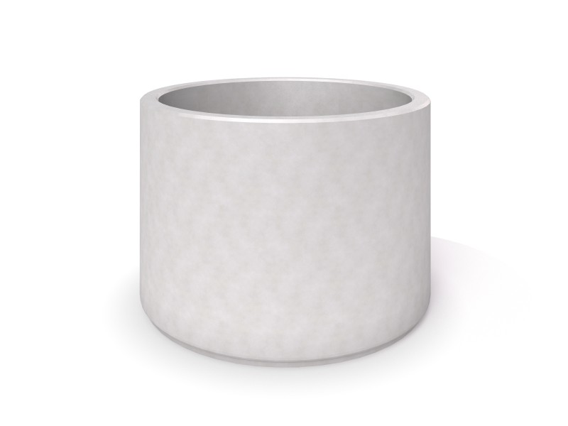 Inter-Play - DECO white concrete planter 07