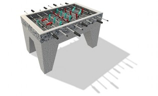 Inter-Play - Concrete football table 1