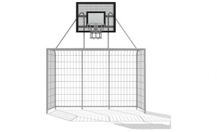 Inter-Play - Football gate with basket 3x2m