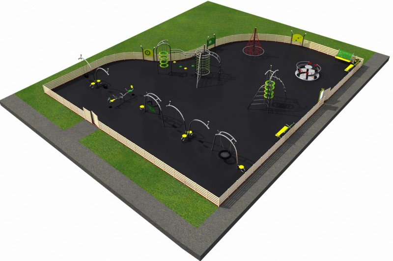 Playground Equipment for sale PARK layout 9 Professional manufacturer
