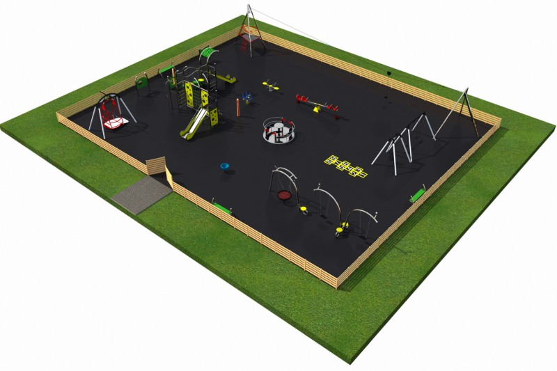 Playground Equipment for sale MIX layout 7 Professional manufacturer