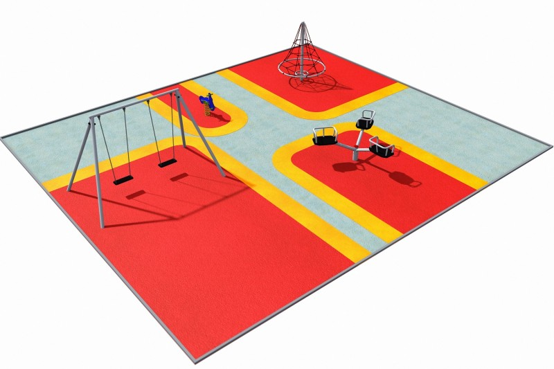 Playground Equipment for sale Donica betonowa zestaw z ławką 05 Professional manufacturer
