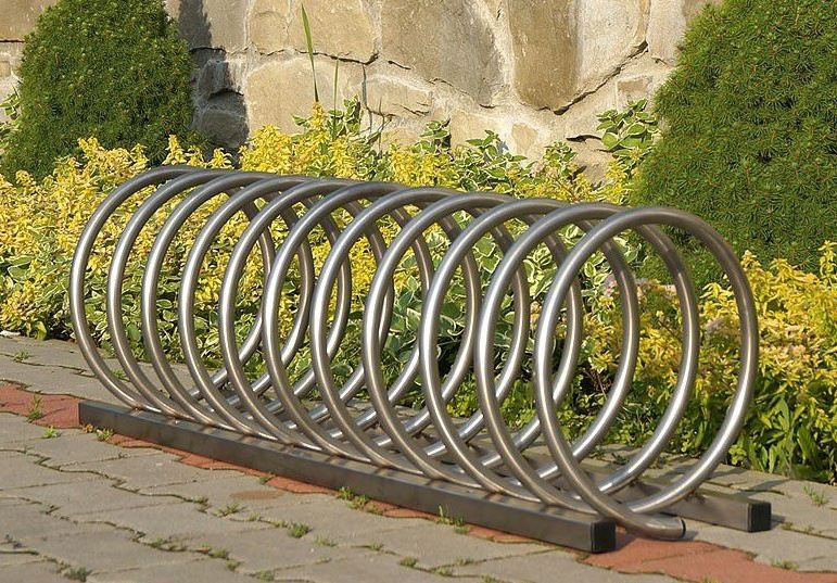 stainless steel bicycle rack 13 Inter Play Playground
