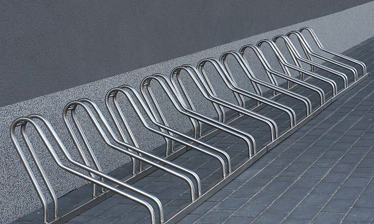 stainless steel bicycle rack 21 Inter Play Playground