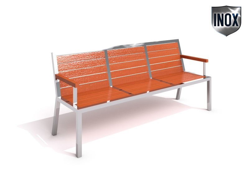 Inter-Play - Stainless steel bench 09