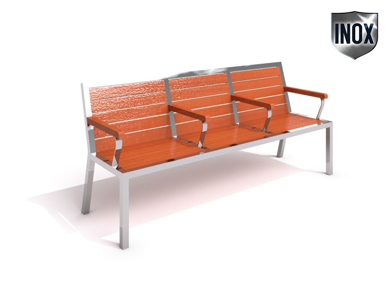 Inter-Play - Stainless steel bench 10