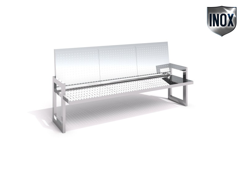 Playground Equipment for sale Stainless steel bench 01 Professional manufacturer