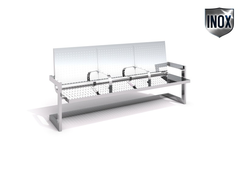 Stainless steel bench 12 Inter Play Playground