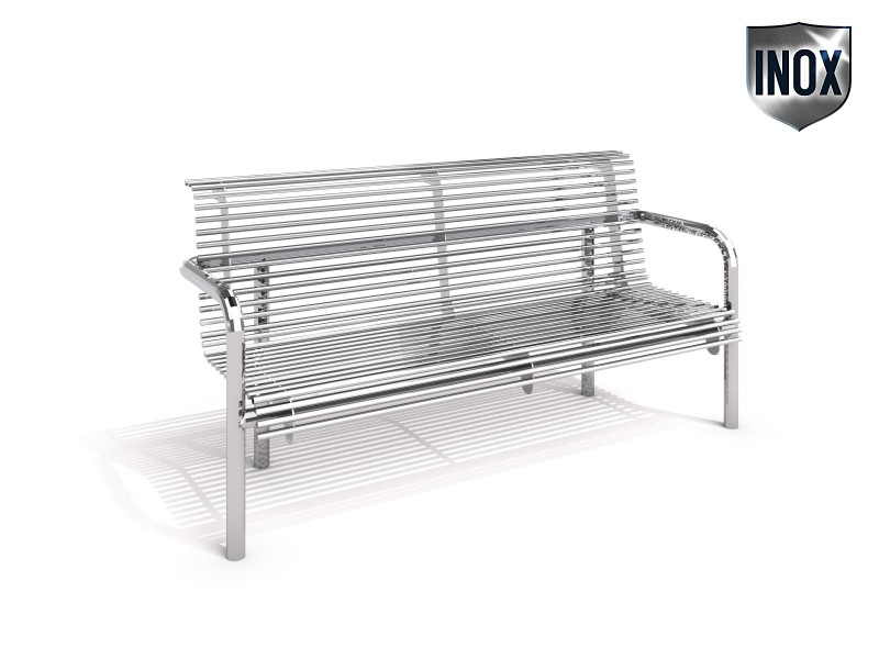 Inter-Play - Stainless steel bench 16