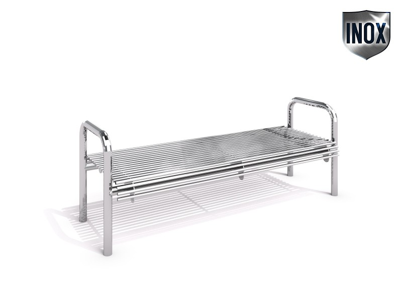 Stainless steel bench 17 Inter Play Playground