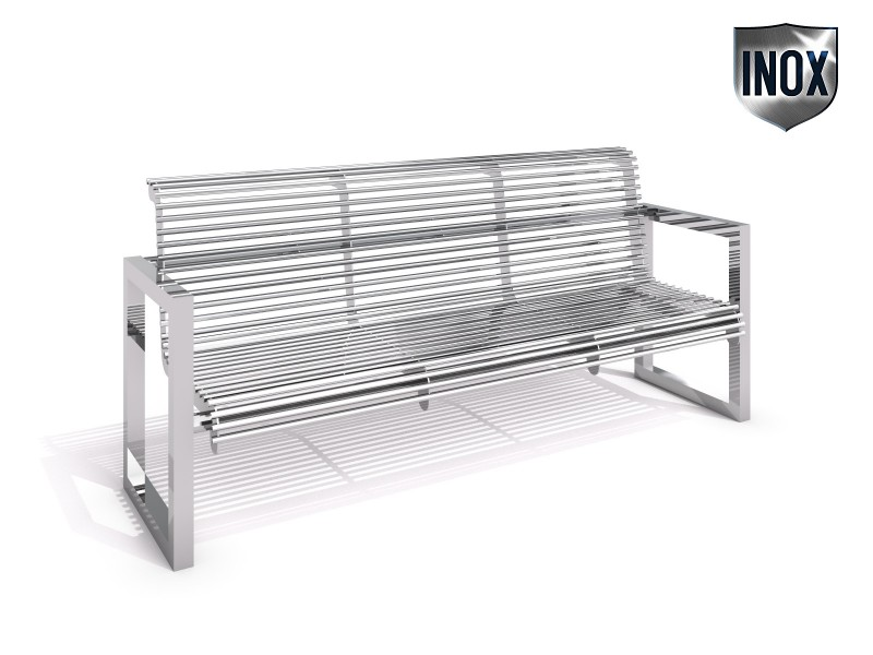 Inter-Play - Stainless steel bench 18