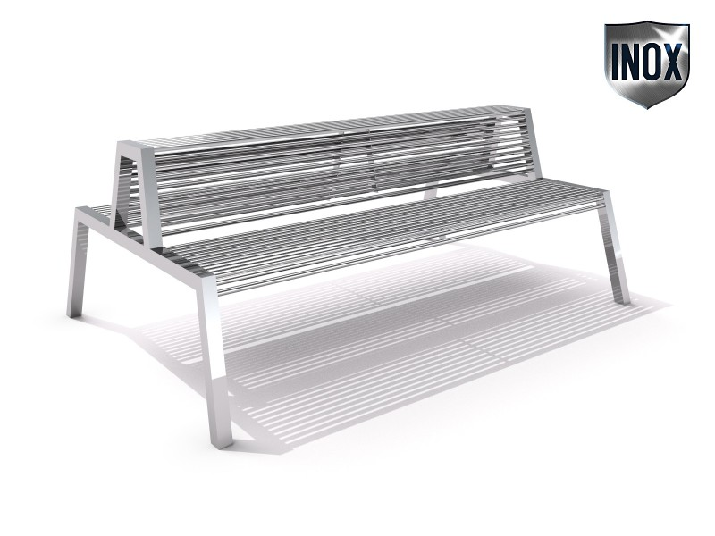 Stainless steel bench 20 Inter Play Playground
