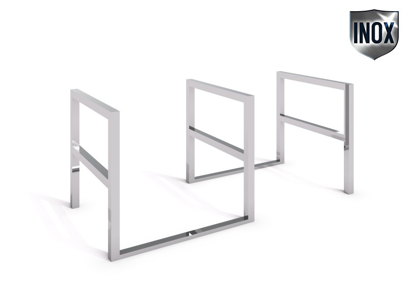 Inter-Play - stainless steel bicycle rack 06