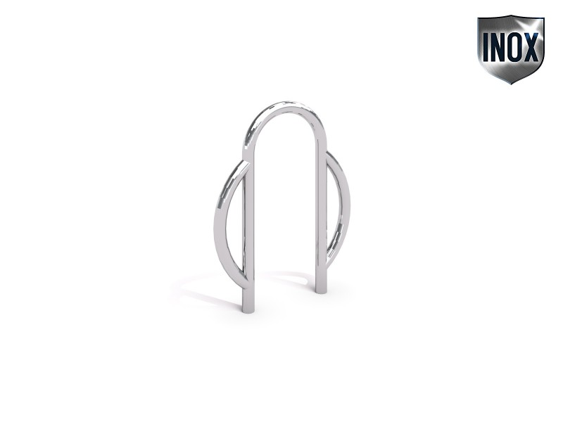 Inter-Play - stainless steel bicycle rack 08