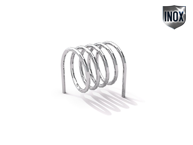 Inter-Play - stainless steel bicycle rack 10