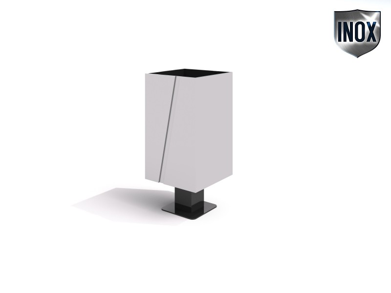 Inter-Play - Stainless steel trash bin 08