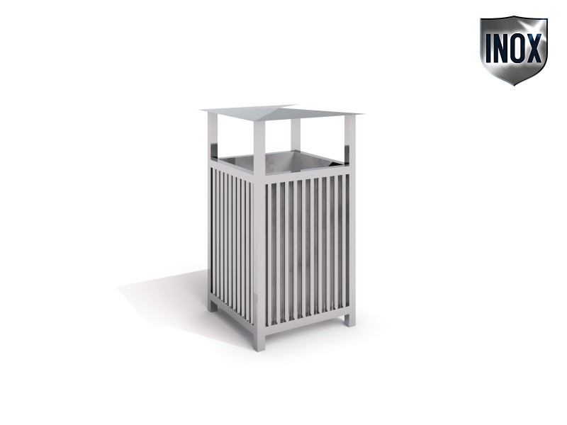 Playground Equipment for sale stainless steel trash bin 02 Professional manufacturer