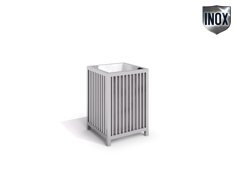 Inter-Play - stainless steel trash bin 04